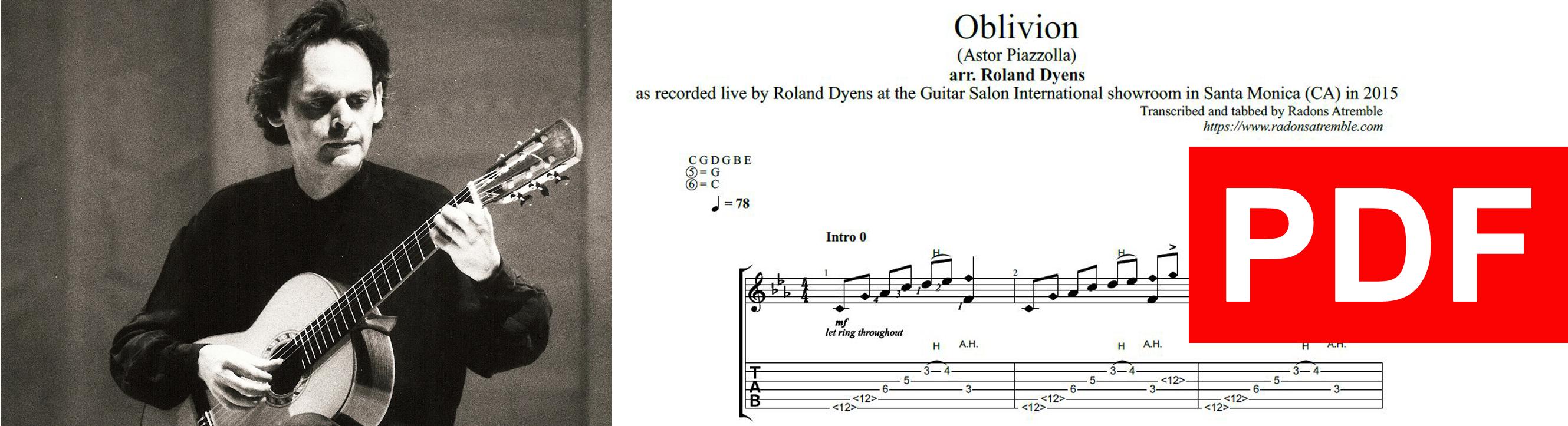 010 Oblivion - Roland Dyens PDF Image