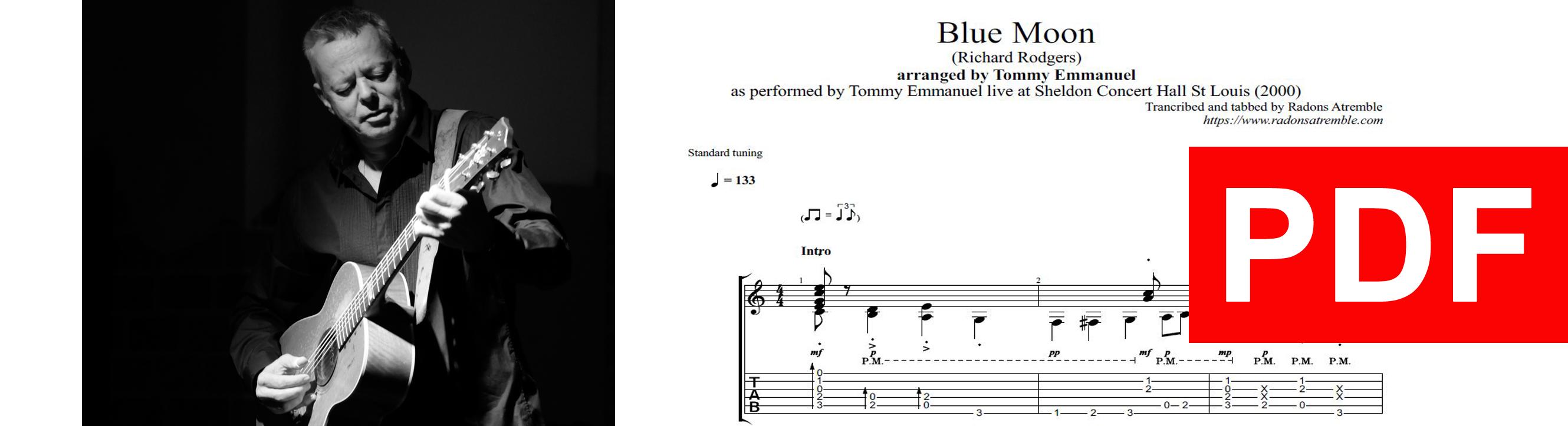 011 Blue Moon - Tommy Emmanuel PDF Image